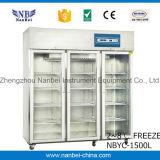 Apotheke-Krankenhaus-Glastür-aufrechter medizinischer Kühlraum
