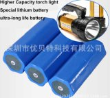 batterie d'ion de lithium à haute intensité de lampe à décharges de lampe-torche intense cylindrique de 3.7V 25ah