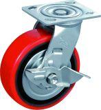 Feuergebührenschwenker-Möbel-Fußrolle mit Gewinde PU
