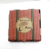 Caja de embalaje de la venta de la F-Flauta de la pizza acanalada caliente de la ventana/rectángulos baratos de encargo de la pizza