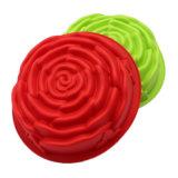 La FDA de nouveau produit délivrent un certificat le moulage matériel de gâteau de silicones de catégorie comestible, moulage de gâteau de silicones de forme de Rose de taille moyenne/moulage de pudding