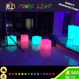 Light Up Bar Furniture Chaise en plastique Glowing LED Cube