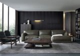 Amerikanisches Art-Ausgangsfeder-Leder-Ecken-Sofa