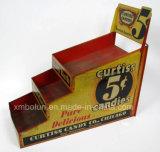 Présentoir d'étage de carton de couleur rouge pour l'étalage de sucrerie de mémoire