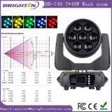 최고 소형 7*40W RGBW 세척 LED 이동하는 빛
