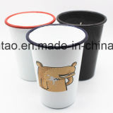 Tazza dello smalto con la tazza della chiavetta della tazza della candela degli articoli per la tavola della candela