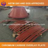 Desgaste - placa de acero resistente para el alimentador rotatorio del molino