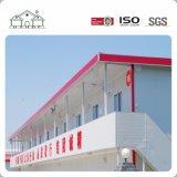 Edificio portable de la vertiente de la casa de los planes prefabricados de la casa del marco de acero del bajo costo