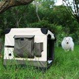 Marco de plástico durable tienda de campaña ligera para mascotas