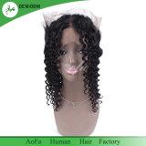 100% Cheveux humains non transformés Cheveux vierges Curly Frontal 360 Fermeture