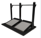 O campo de jogos dobro do parque de diversões das escadas rolantes ostenta o equipamento da aptidão do Bodybuilding (BLO-076)