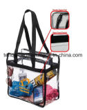 I sacchetti di Tote liberi di plastica rimuovono i sacchetti della chiusura lampo del PVC del vinile con le maniglie