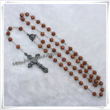 Religiosa Lastst Red Special Glass Beads Rosary para Orar (IO-cr063)