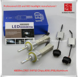 La prova H13 LED CREE Xhp50 faro dell'automobile 4800lm 6000k 40W Acqua