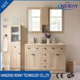 高品質の床のミラーのキャビネットとの木製の浴室の虚栄心