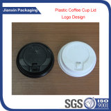 使い捨て可能なプラスチックコップのコーヒー熱湯のふた