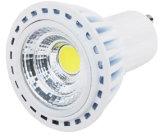 Sliver Aluminum를 가진 220V GU10 5W COB LED Light