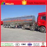 De Tri-Essieu d'acier inoxydable de réservoir (d'essence) camion-citerne d'essence et d'huile de remorque semi