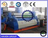 Machine de plaque des rouleaux W12S-16X2500 4 de dépliement en acier et de roulement