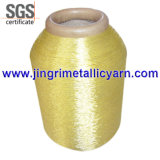 Silver puro Pure Gold Metallic Yarn con Cotton o Polyesor Viscose Rayon Core