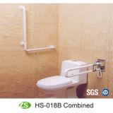 Barra de garra de nylon de dobramento do toalete da desvantagem do ABS da banheira do banheiro dos acessórios do banho