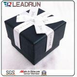 Lederne Samt-Schmucksache-Süßigkeit-kosmetische Verpackungs-Schmucksache-Geschenk-Kasten-Papier-Pappring-Ohrring-Armband-Armband-Halsketten-verpackenkasten (Lj08A)