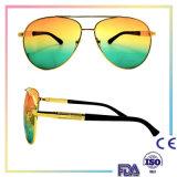 Combinaison ronde fabriquée à la main en métal de 2016 lunettes de soleil de qualité/lunettes de soleil en métal