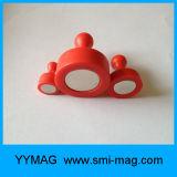 Imanes plásticos coloridos de la nota de la oficina / Pin magnético del empuje