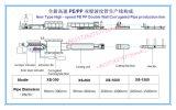 Tubo ondulato doppio di drenaggio dell'HDPE pp che fa la strumentazione d'espulsione della macchina in espulsori di plastica 200, 600, 800, 1000mm