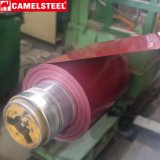 Tôle d'acier galvanisée enduite d'une première couche de peinture avec le film
