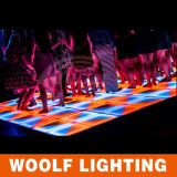 LED Dance Floor con el control DMX512 para el partido de Woolf en China