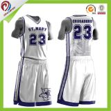 デジタル印刷を用いる新式の最もよい卸売レディースバスケットボールの均一デザイン