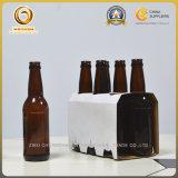 330ml規則的な形の長い首(503)が付いているこはく色のビール瓶