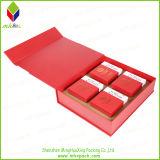 Роскошная бумажная коробка упаковки еды с штемпелевать золота