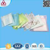 Serviette hygiénique à ailes par coton remplaçable pour des femmes