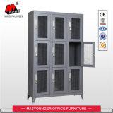 労働者/スタッフ/兵士の使用9のドアの鋼線の網のロッカー