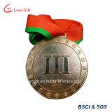 Médaille en bronze de récompense en métal de marathon d'électrodéposition