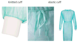 Abito elastico non tessuto a gettare di isolamento del polsino/abito chirurgico