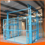 Fabricantes do elevador do elevador do armazém dos bens da carga do trilho de guia do ISO do Ce