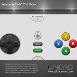 New Arrival WiFi + Bluetooth Android 6.0 Smart Ott TV Box Basé sur le processeur Cortex A53 64bit. 3 Go + 32 Go.