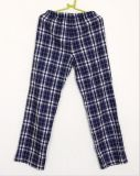 Cuecas 100% tingidas da roupa de noite da flanela da verificação do fio de algodão