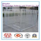 Canil do cão ou gaiola soldada aço galvanizada dobrada Stackable do armazenamento da gaiola do cão