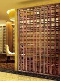 Écran en bronze d'acier inoxydable en métal de couleur pour la décoration d'hôtel