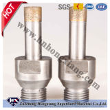 Pata aglomerada Diamond Core Drill Bit de Thread para Glass Drilling
