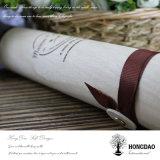 Rectángulo de empaquetado del tubo de Hongdao del regalo de madera redondo del vino para el _E de madera de rectángulo de almacenaje del vino de la venta