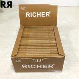 Papier de roulement non blanchi de cigarette de tabac de papier de chanvre de première pente plus riche