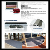 Hotel-Eingangs-Aluminiumlegierung-Matte mit dem Teppich eingeschoben