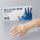 Устранимая перчатка пластмассы HDPE/LDPE PP/PE
