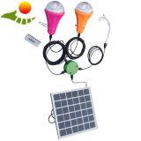 El CE aprobó la lámpara solar/el hogar móvil que el CE solar portable de la lámpara aprobó la lámpara solar de 2 bulbos, lámpara solar portable de 2 bulbos del cargador del hogar móvil del cargador