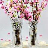 Vente en gros de vases en verre transparent / vase en cristal